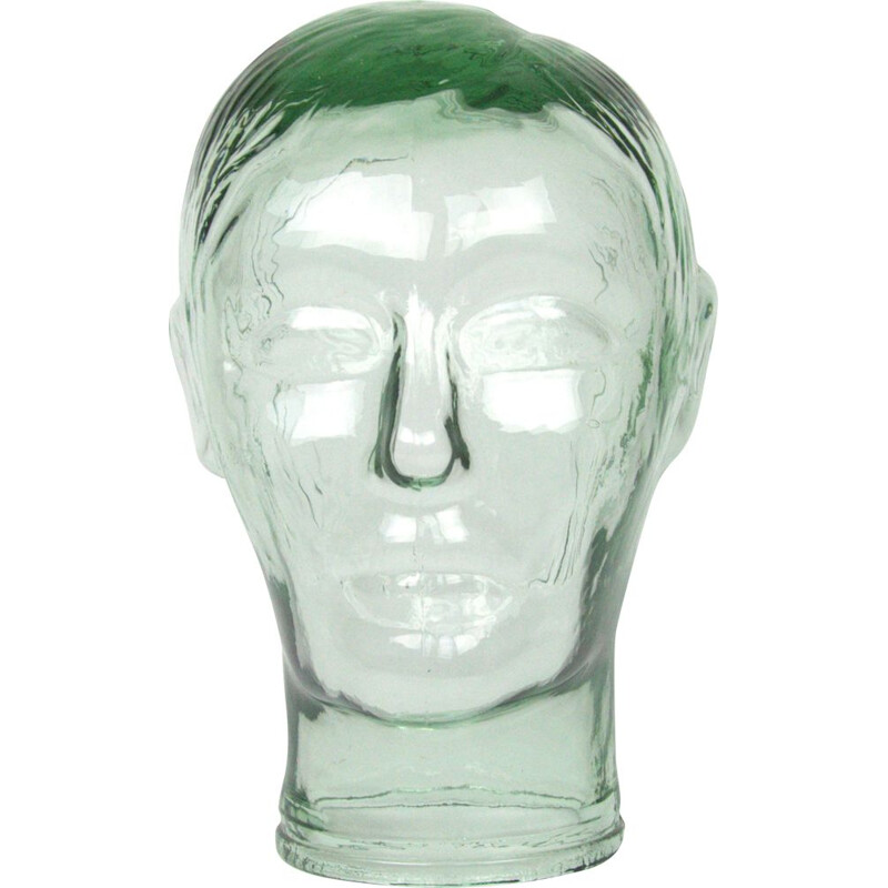 Vintage decorative glass head, Holland, 1970s