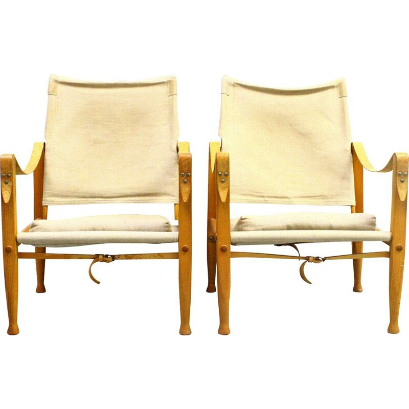Pair of vintage armchairs by Kaare KLint for Carl Hansen & Son