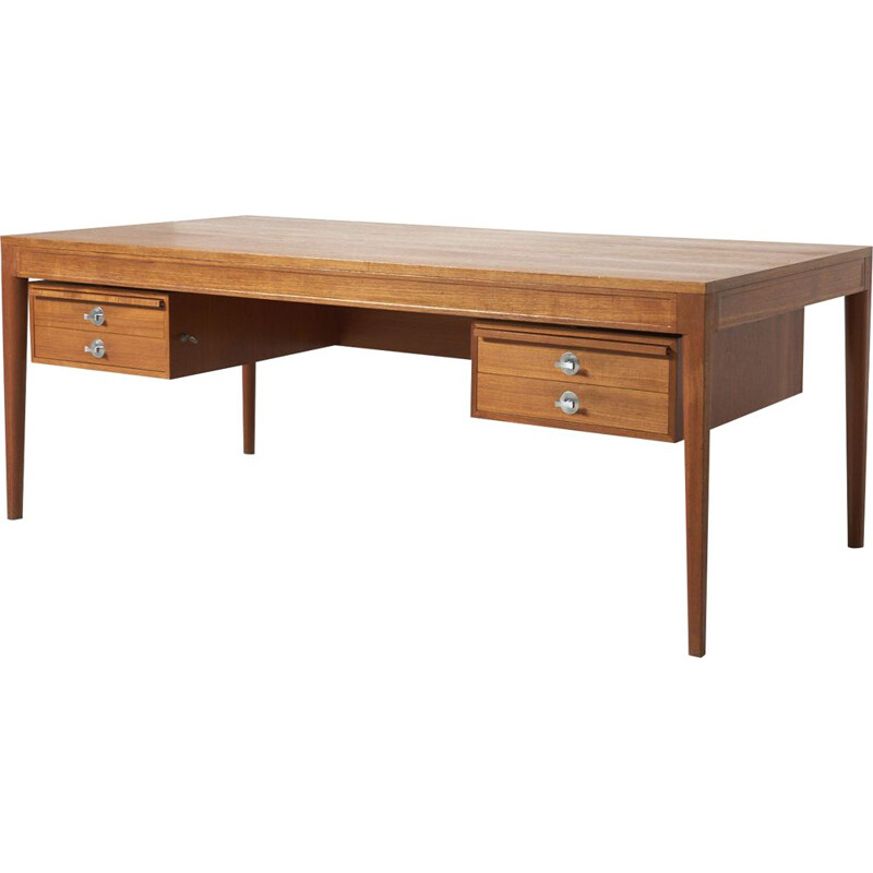 "Vintage ""diplomat"" desk in teak for France & Son, 1950s"