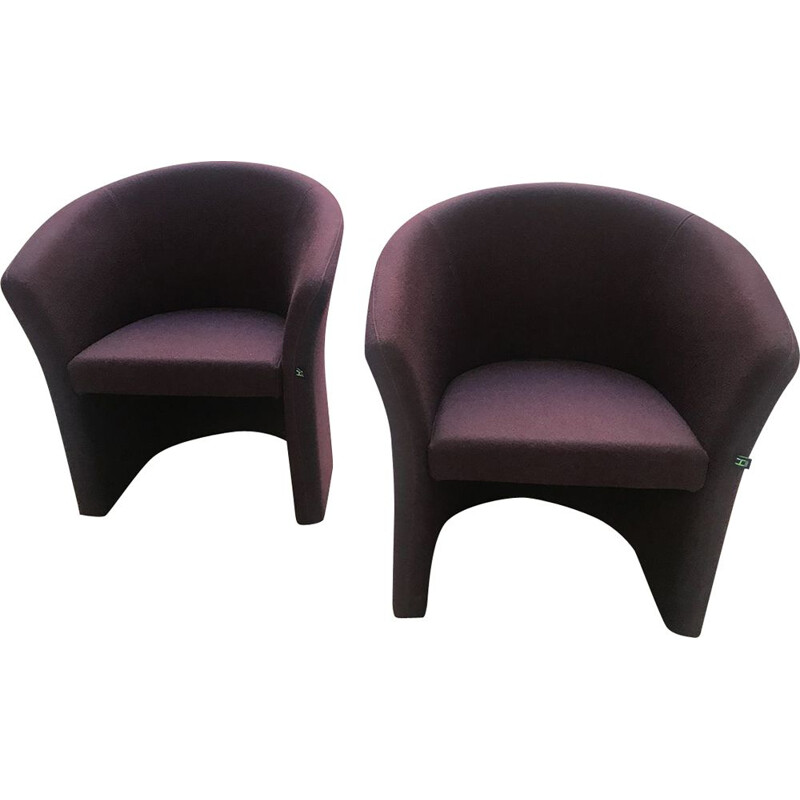 Vintage pair of Bordeaux low chairs, Harmony edition, 2010