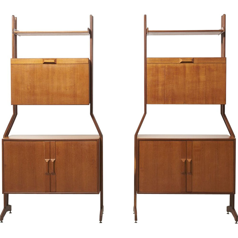 Vintage pair of shelving units, 1960s