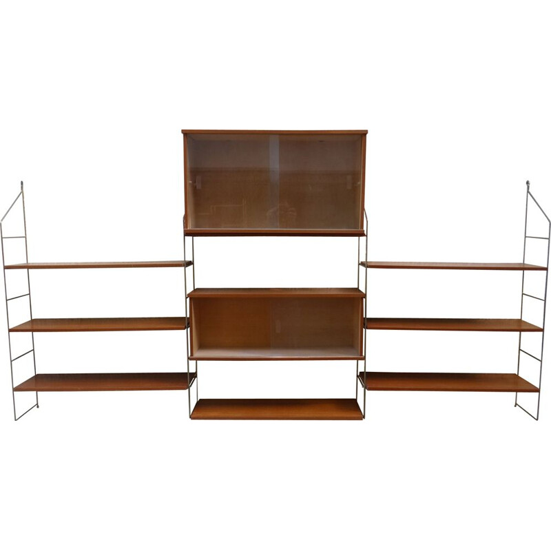 "Vintage ""string"" bookcase, 1950s"