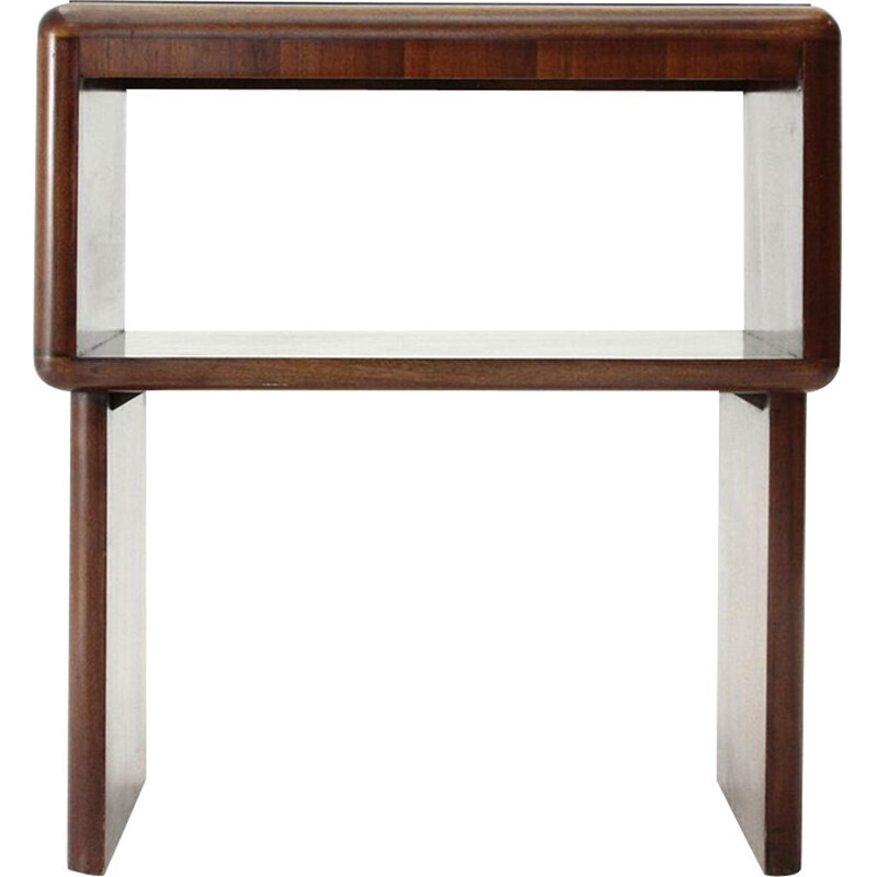 Vintage italian console with round edges, 1950