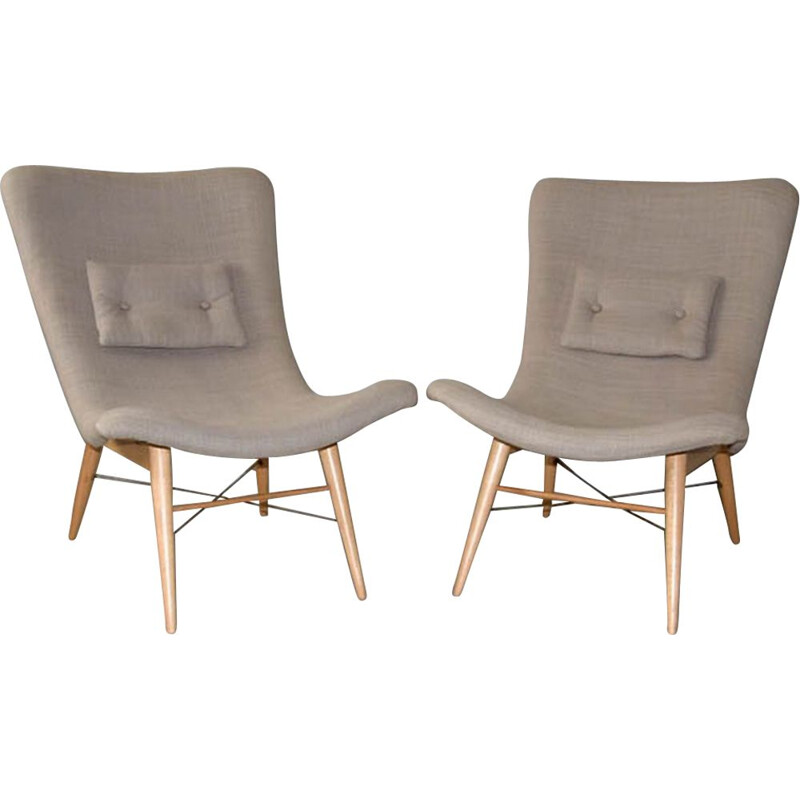 Set of 2 vintage armchairs by Miroslav Navrátil, 1959s