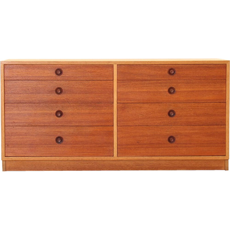 Vintage oak sideboard by Hans J. Wegner for Ry Møbelfabrik, 1960s