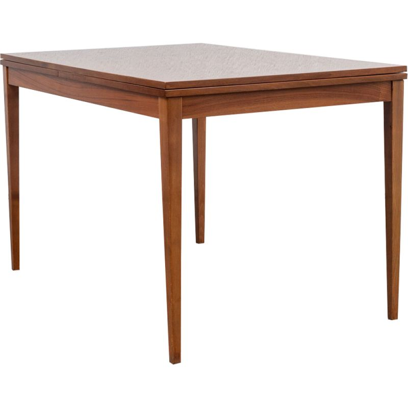 Vintage extendible walnut dining table, 1960s