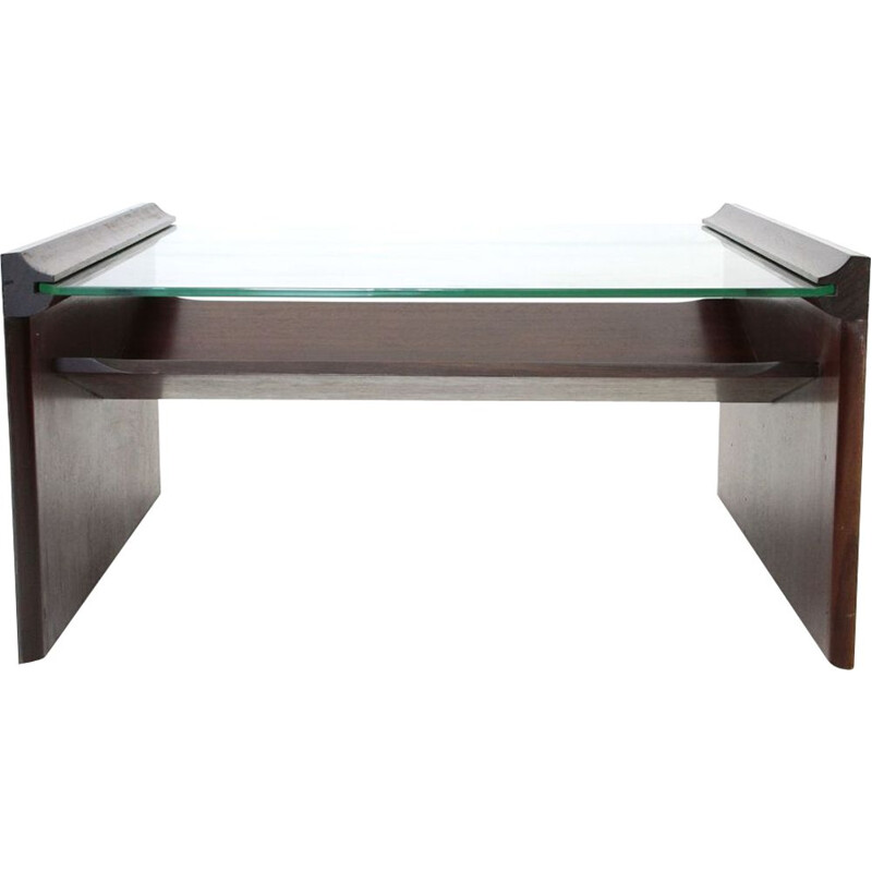 Vintage coffee table with magazine rack by Kazuhide Takahama for Gavina, 1960s