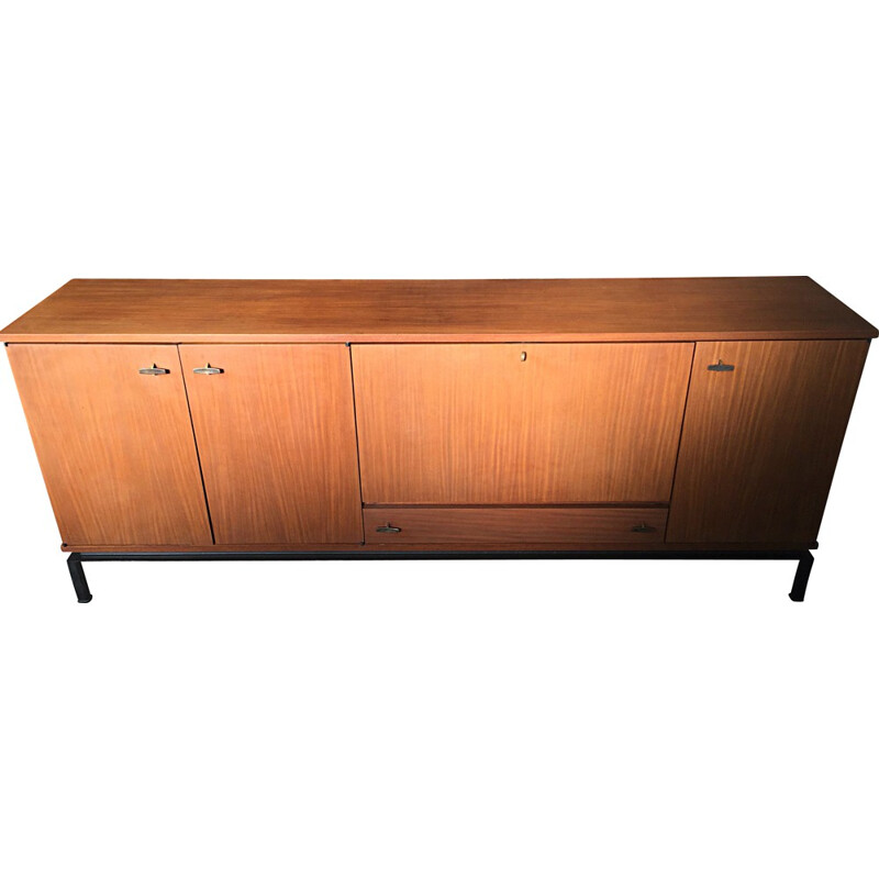Alvéole vintage sideboard in rosewood, GASCOIN - 1960s