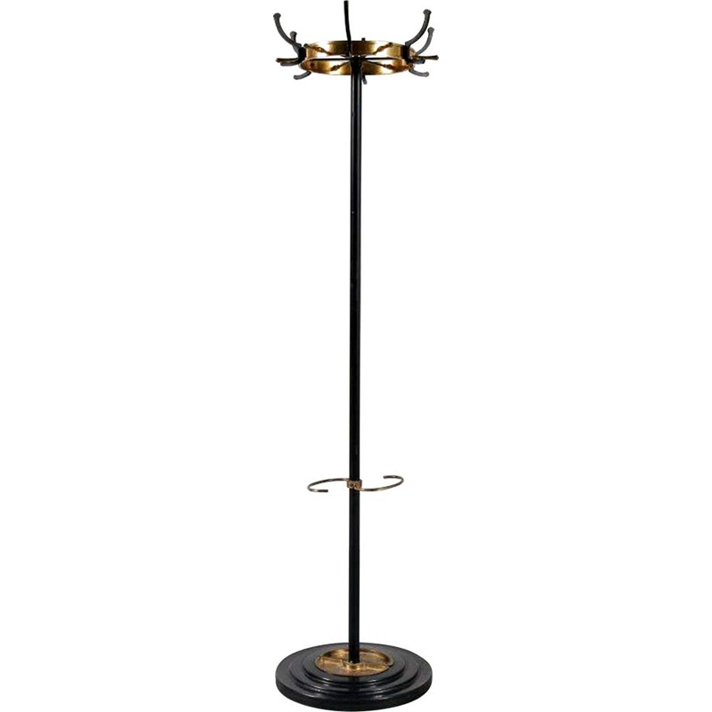 Vintage coat rack by Jacques Adnet , France, 1950s