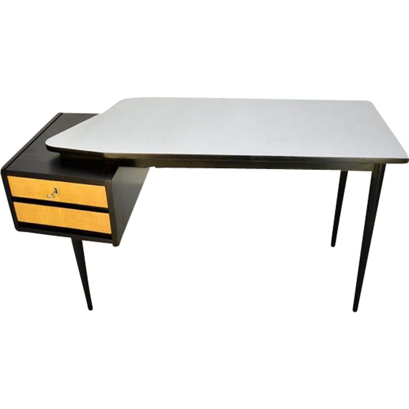 Vintage desk with wooden structure and formica top, Croatia, 1960s