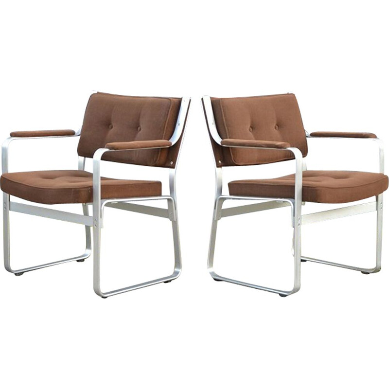 "Set of 2 vintage ""Mondo"" armchairs by Karl-Erik Ekselius for JOC Vetlanda, 1960s"