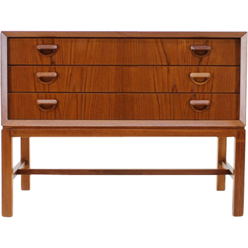 Vintage teak chest of drawers, Denmark, 1960s