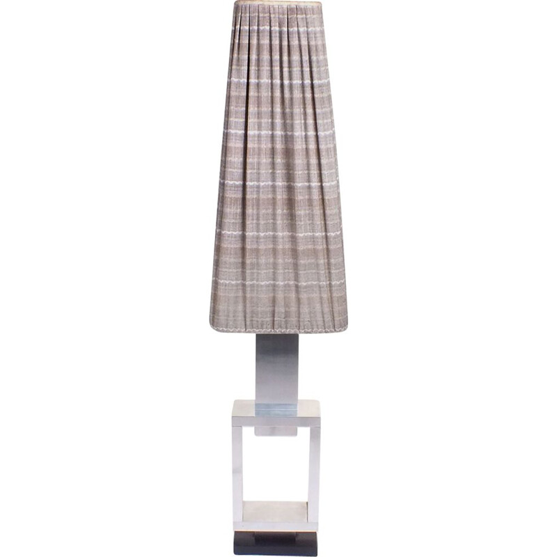Vintage fabric and metal floor lamp, 1960s