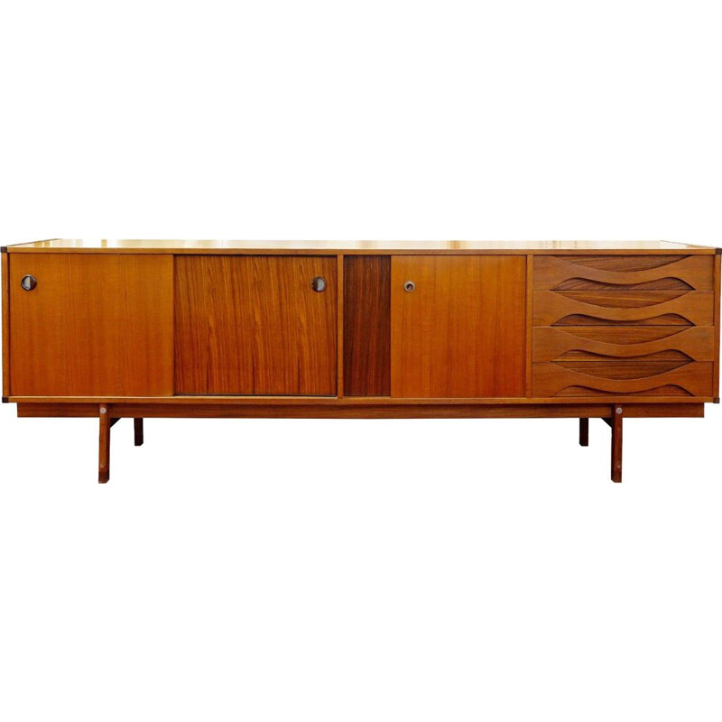 Vintage wooden sideboard, Italy, 1970s
