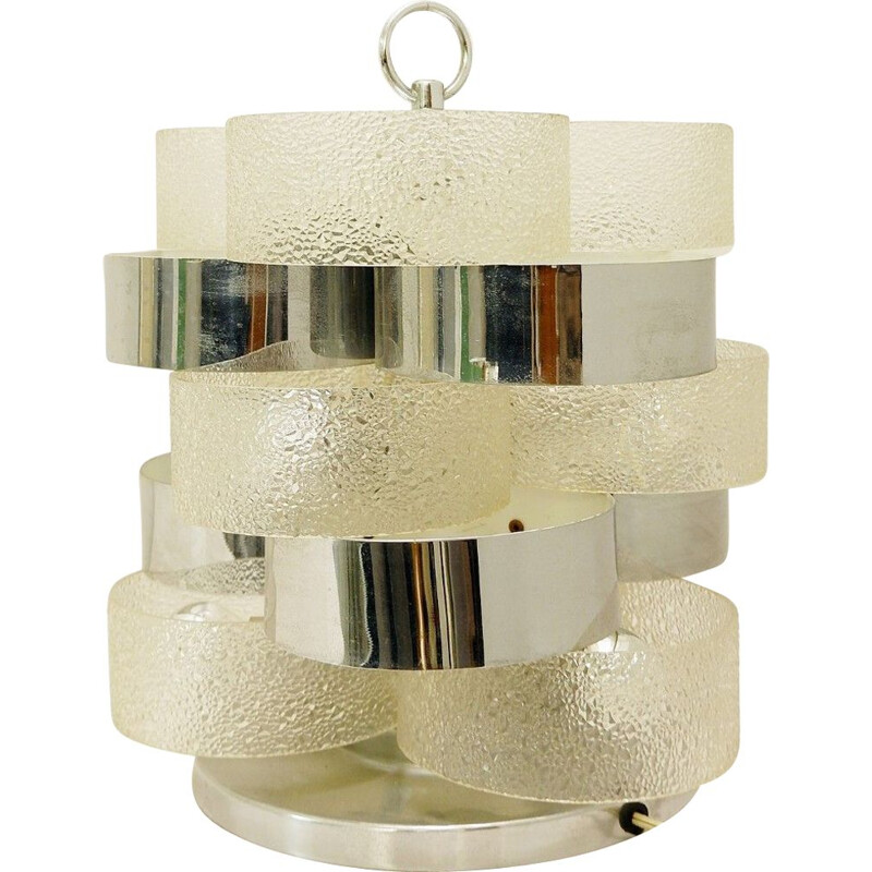 Vintage table lamp with concentric rings, Italy, 1970s