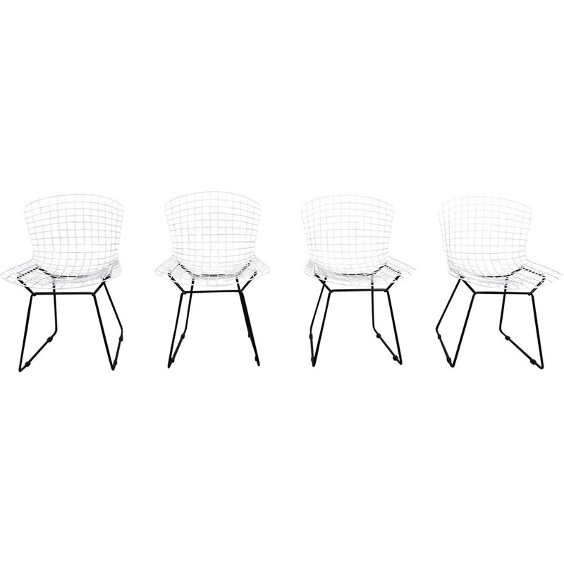 Set of 4 Model 420C vintage Chairs by Harry Bertoia for Knoll, USA, 1960s