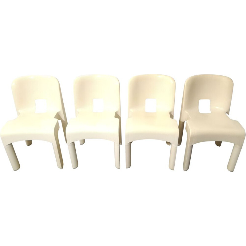"Set of 4 ""Universale"" chairs by Joe Colombo for Kartell, 1960s"