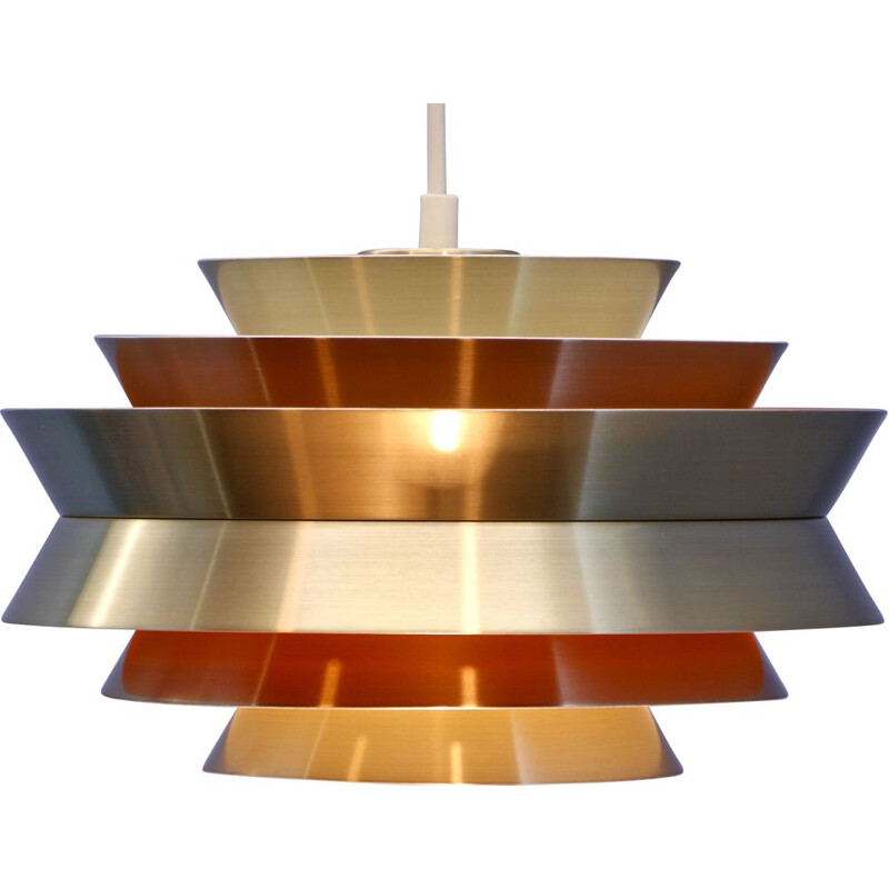 "Vintage hanging lamp ""Trava"" in brass by Carl Thore for Granhaga, 1970s"