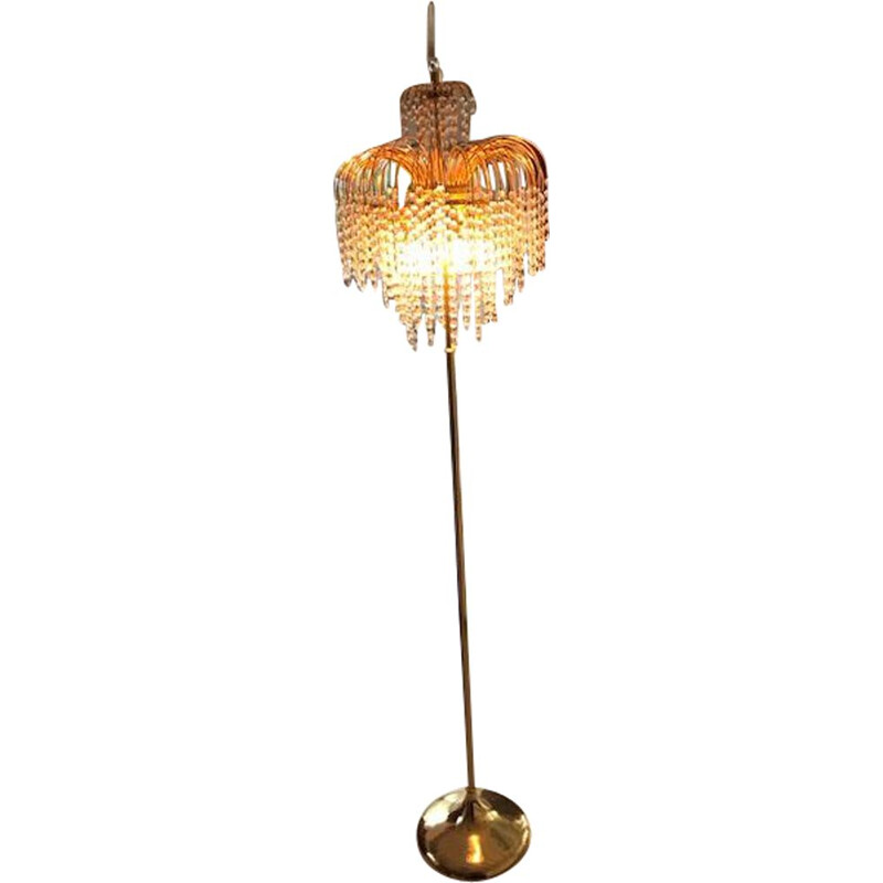 Murano glass vintage floor lamp, 1970s