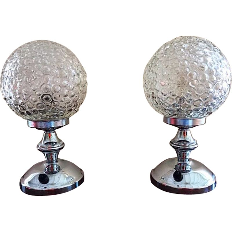 Set of 2 vintage Globe lamps by Limburg for Helena T, 1960s