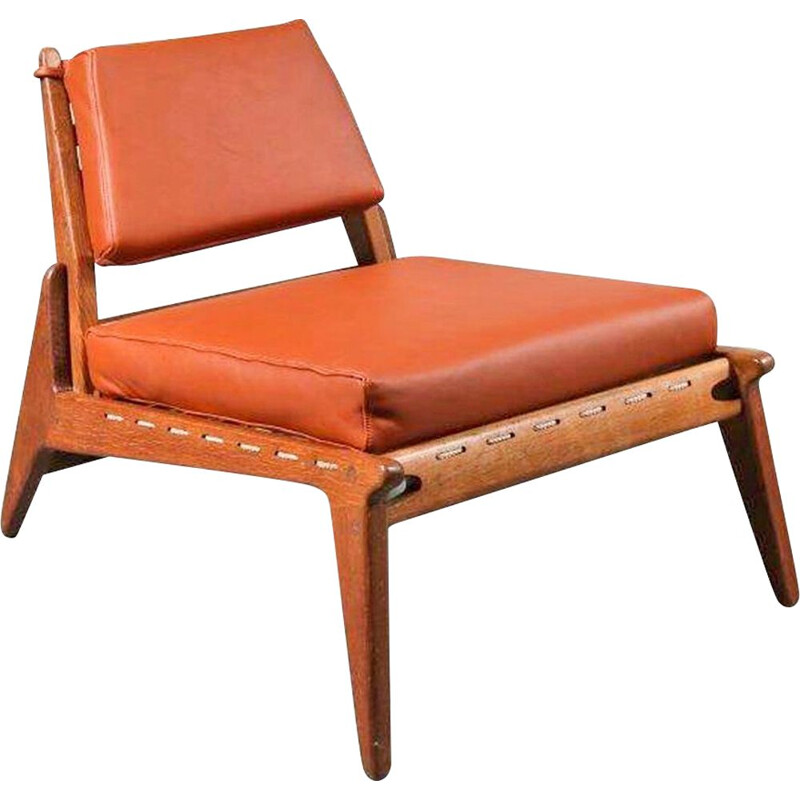 "Vintage ""Hunting Chair"" by Uno & Osten Kristiansson, Sweden 1950"