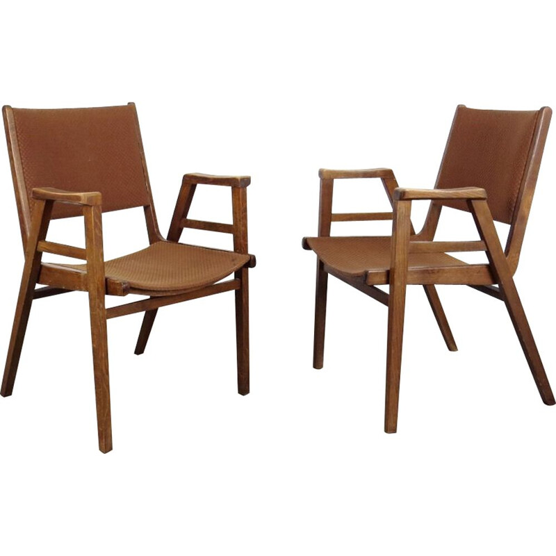 Vintage pair of Armchairs by Frantisek Jirak, 1960 Czechoslovakia