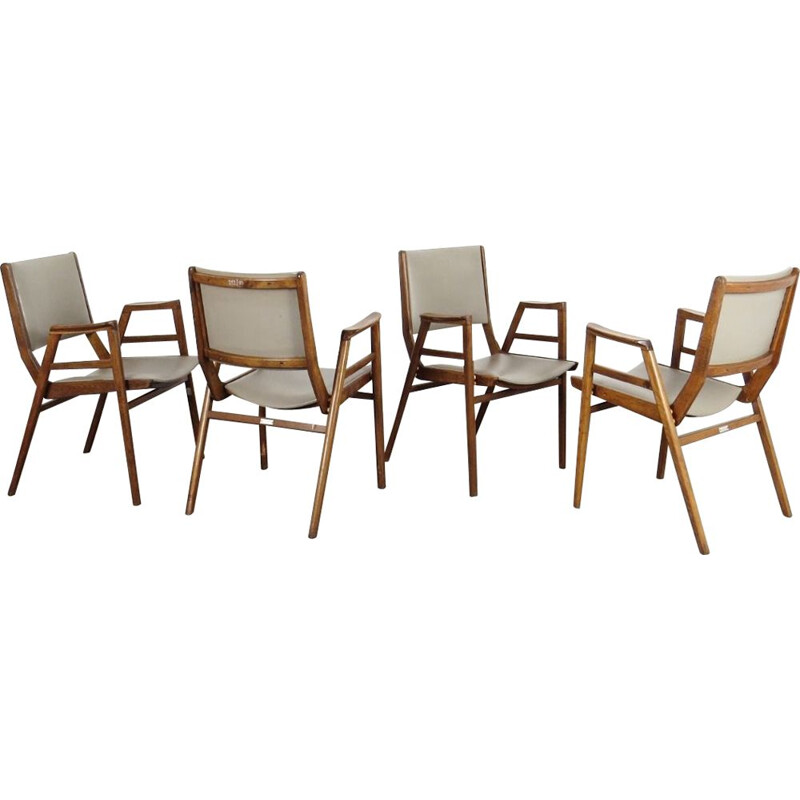 Vintage set of 4 armchairs by František JIrak, 1960