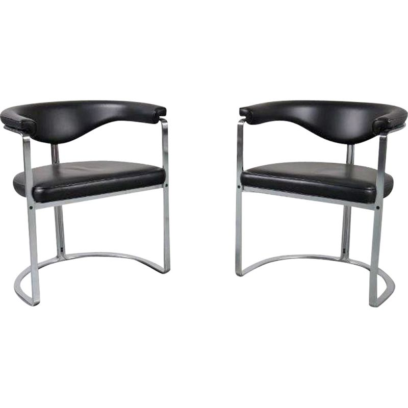 Vintage Pair of Horst Brüning dining chairs for Kill Int., Germany 1968