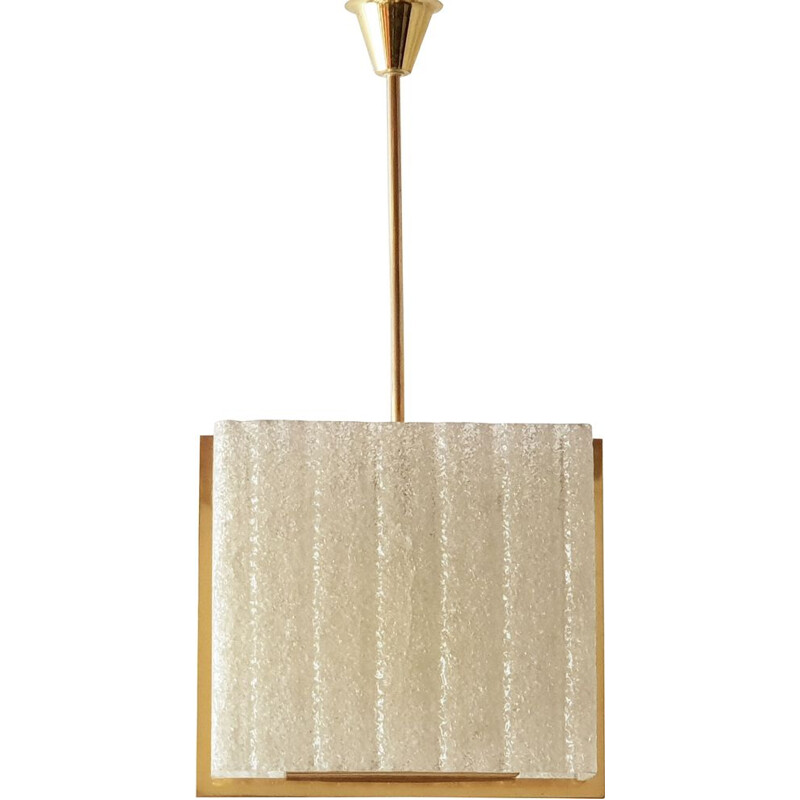 Vintage resin hanging lamp by Arlus, 1950