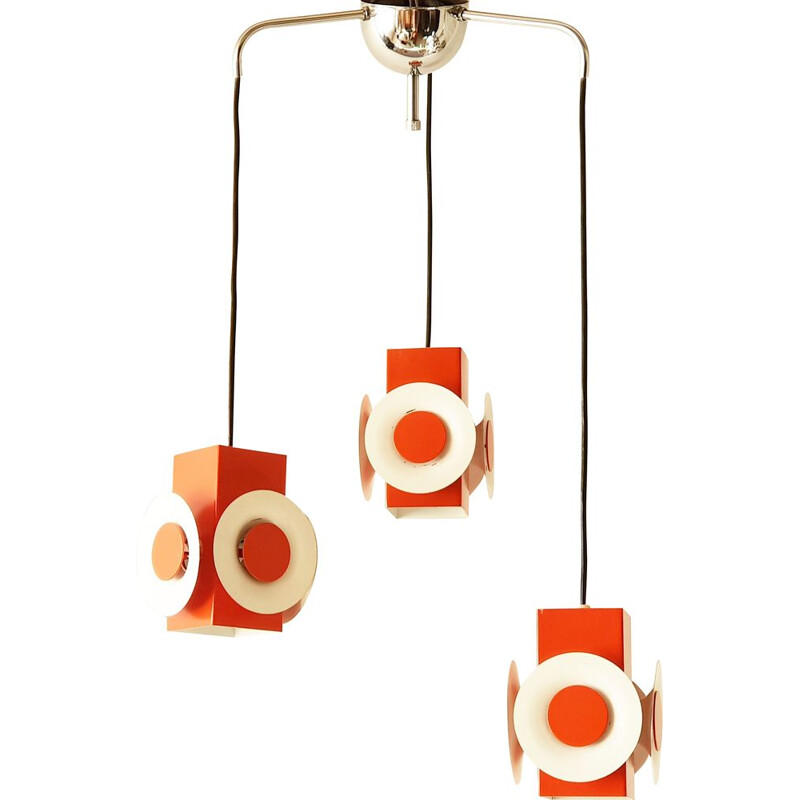 Vintage waterfall chandelier by Raak 1970