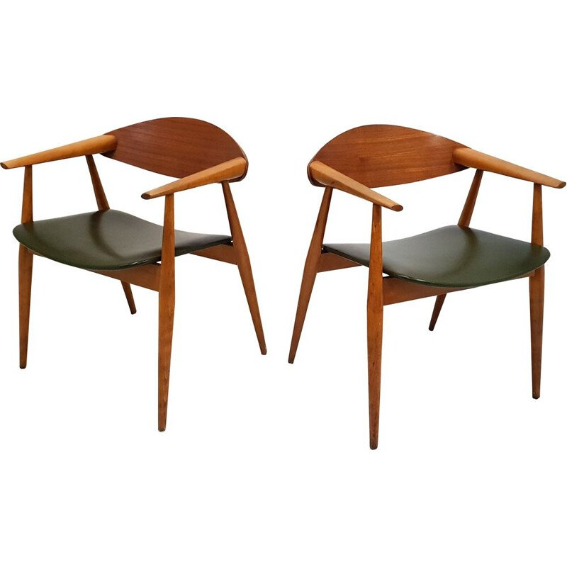 Pair of vintage Scandinavian armchairs 1960