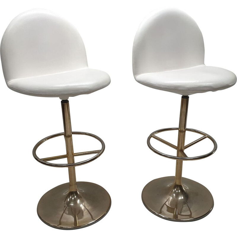 Vintage pair of Vinga bar stools by Börje Johanson for Johanson Design, 1990s