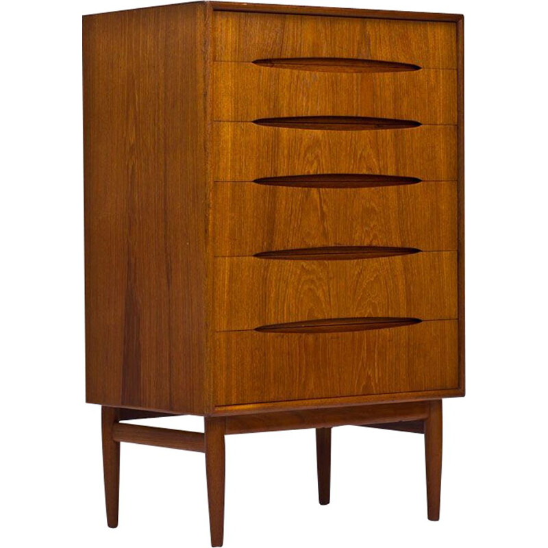 Vintage Teak Chest of Drawers by Kurt Østervig, 1950s