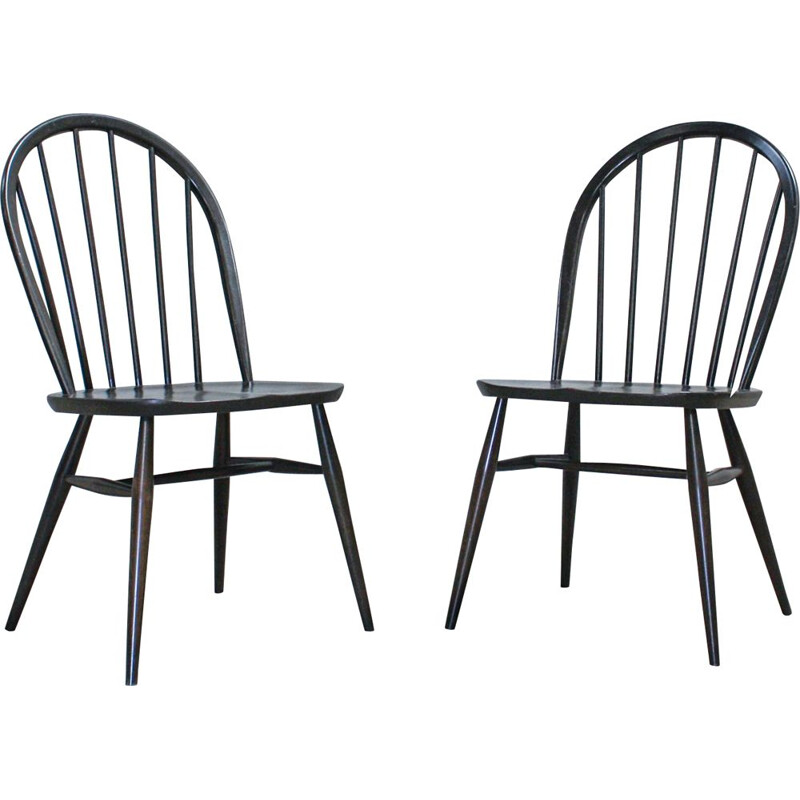 Pair of Vintage Windsor Chairs by Lucian Ercolani for Ercol, 1970s