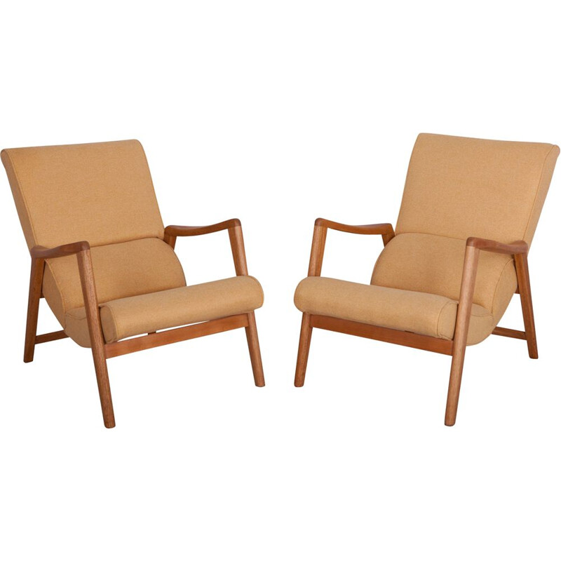 Pair of 2 Vintage Armchairs Model 411 Siesta by Victor Wilkins for G-Plan, 1960s