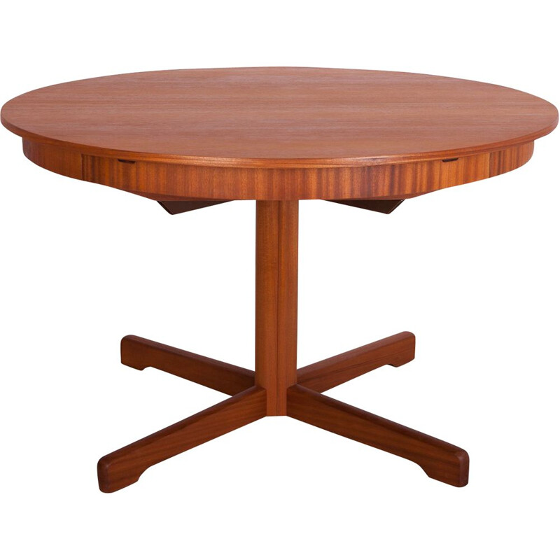 Vintage Round Extendable Dining Table from McIntosh, 1960s