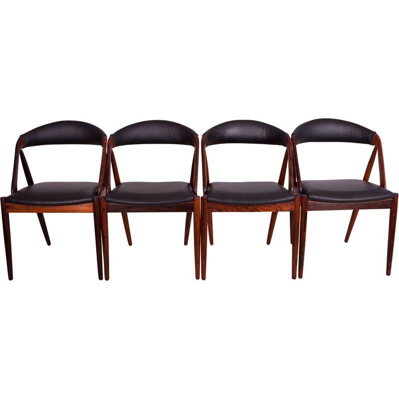 Set of 4 vintage No. 31 Dining Chairs by Kai Kristiansen for Schou Andersen, 1960s
