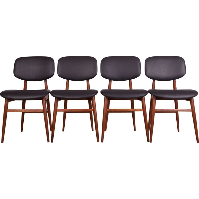 Set of 4 Vintage Teak Dining Chairs by Poul Hundevad for Hundevad&Co, 1960s
