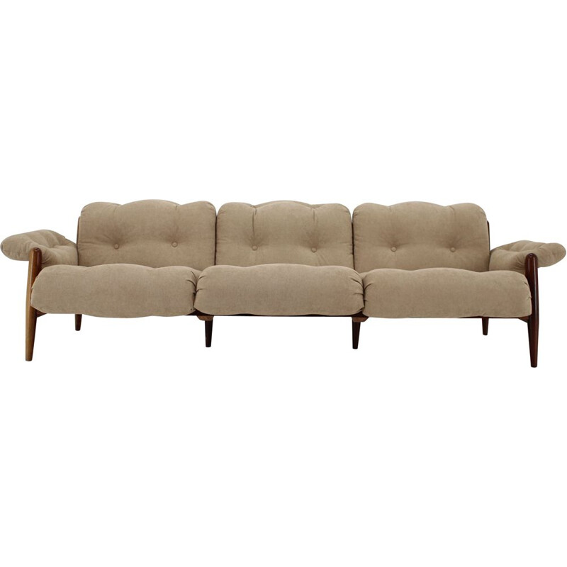 Vintage Palisander Three Seater Sofa, 1970s