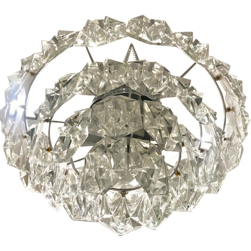 Vintage diamond model ceiling light by Kinkeldey, 1970
