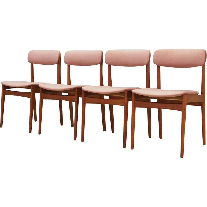 Set of 4 vintage teak chairs by Bundgaard Rasmussen, 1960-70s