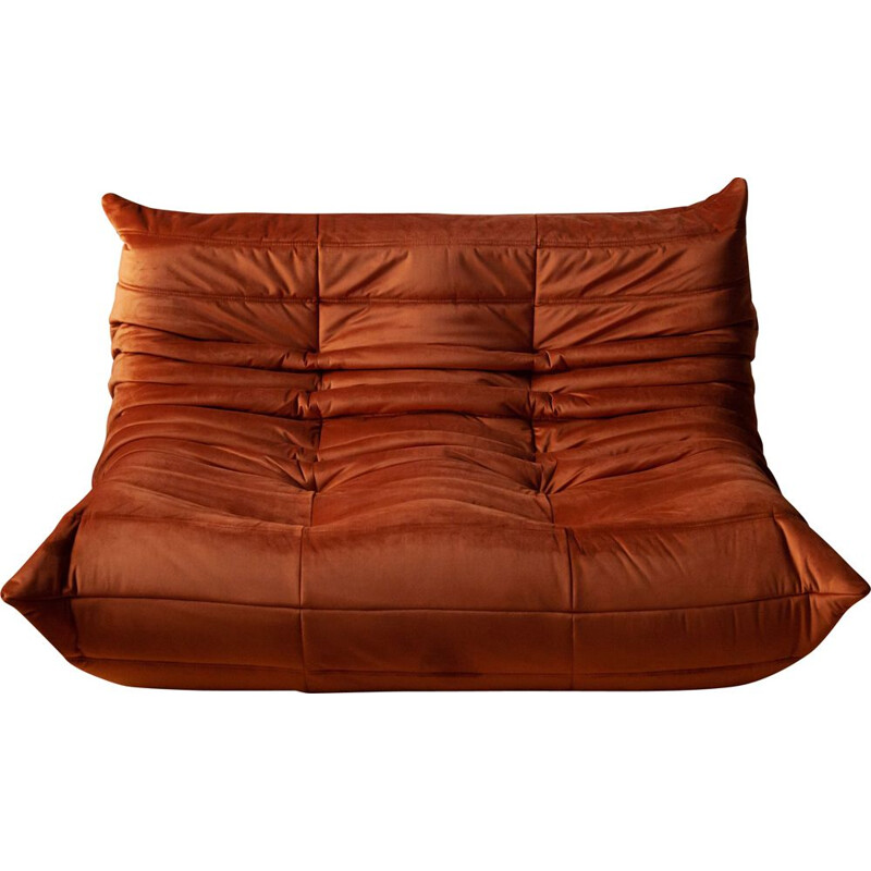 "Vintage ""Togo"" 2-seater sofa by Michel Ducaroy for Ligne Roset, 1970s"