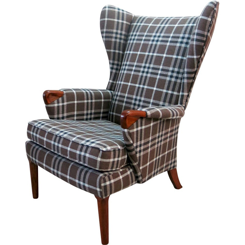 Vintage Wingback Chair with Teak Legs from Parker Knoll, 1960s