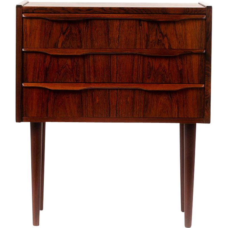 Vintage Danish small chest of drawers in rosewood, 1960