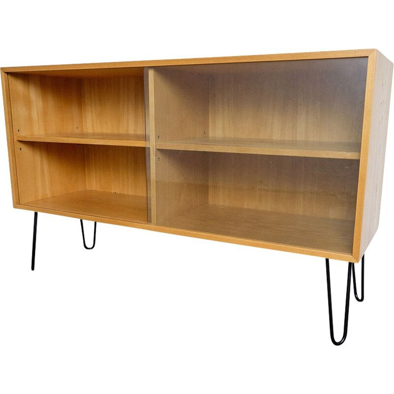 Vintage sideboard in Elm wood by Erich Stratmann for Idee Möbel, 1950s