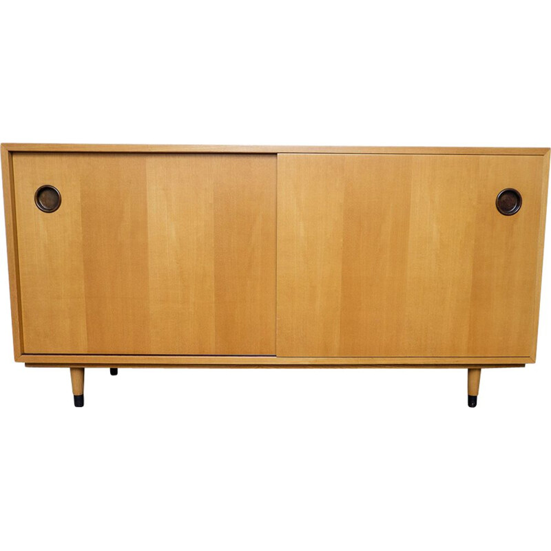 Vintage Elm wood Sideboard by Erich Stratmann for Idee Möbel, 1950s