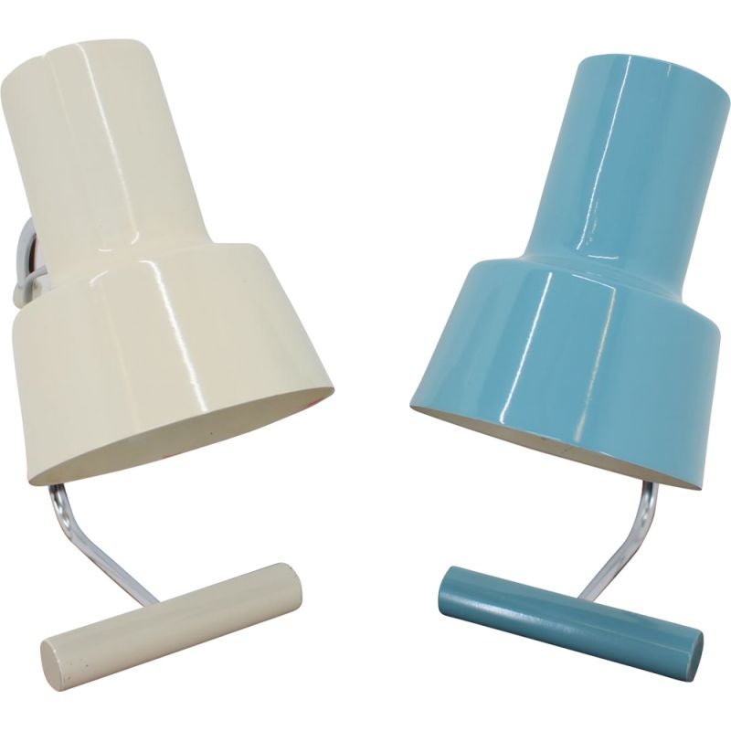 Vintage set of two table lamps by Josef Hůrka for Napako, 1970