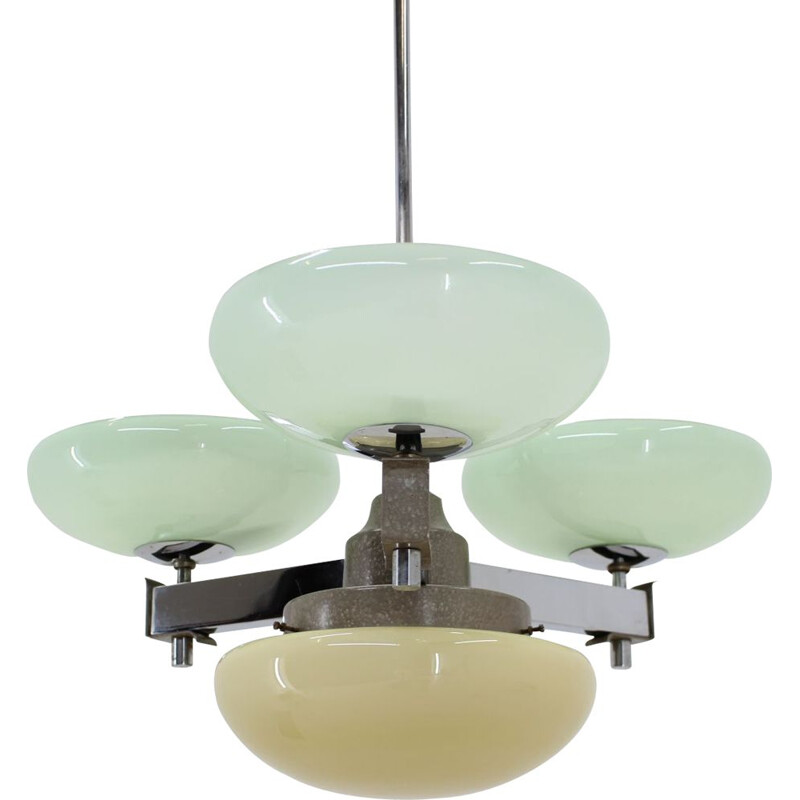 Vintage  Art Deco chandelier by Zukov, 1930s