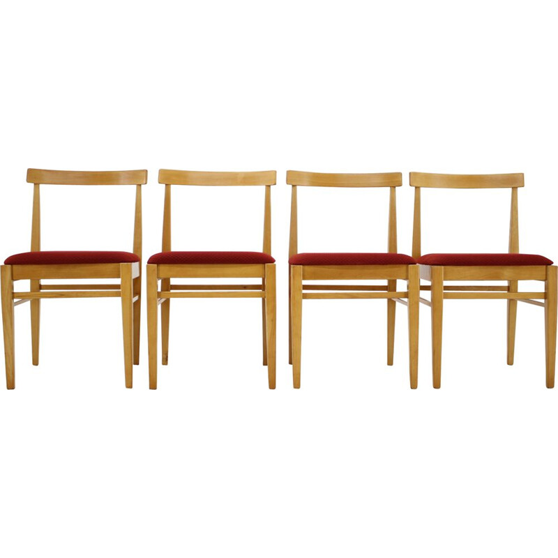 Vintage Set of 4 dining chairs by Thon, 1970