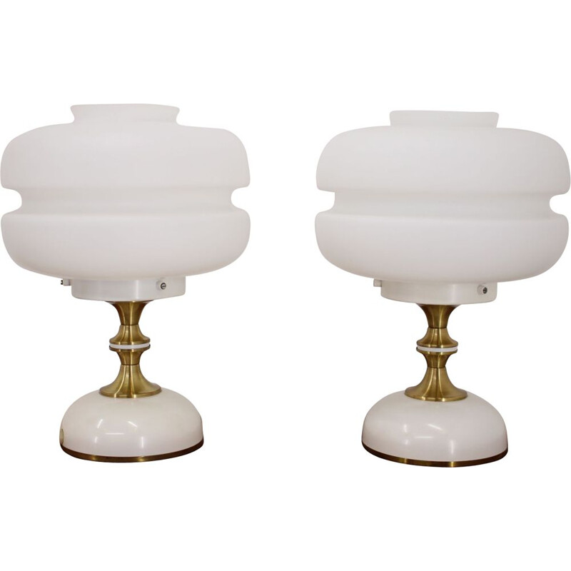 Vinage Pair of table lamps by Napako, 1970